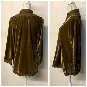 Soft Surroundings Tops - Soft Surroundings Gold Bronze Crushed Velvet Top
